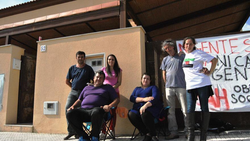 Habitantes de la Corrala 1º de Mayo de Mérida / JCD