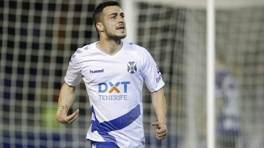 Joselu celebra el tanto logrado frente al Real Valladolid
