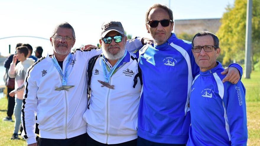El Club Piragüismo Triana, campeón de Andalucía de larga distancia