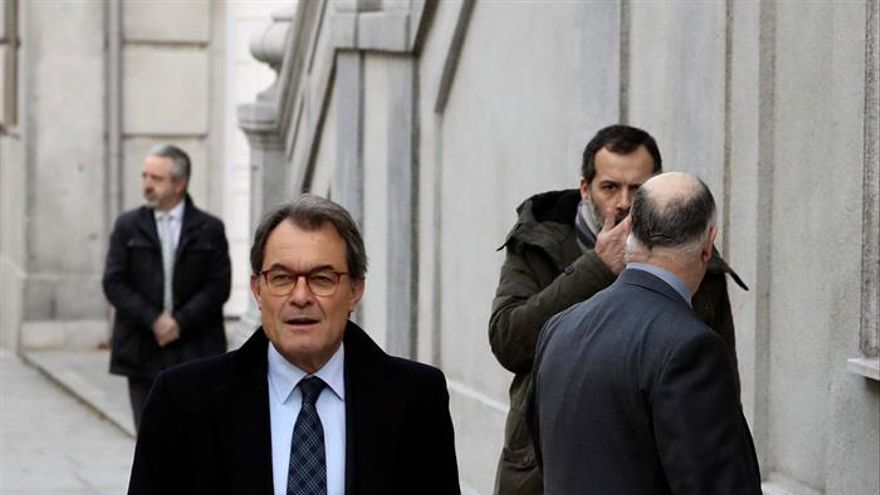 El expresident de la Generalitat, Artur Mas, llegando al Tribunal Supremo.