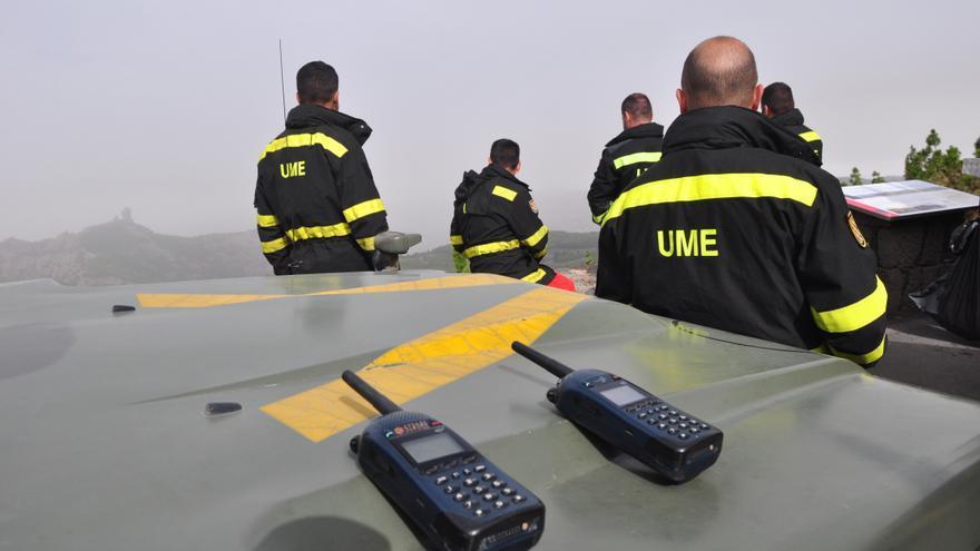 Trabajadores de la UME en Gran Canaria