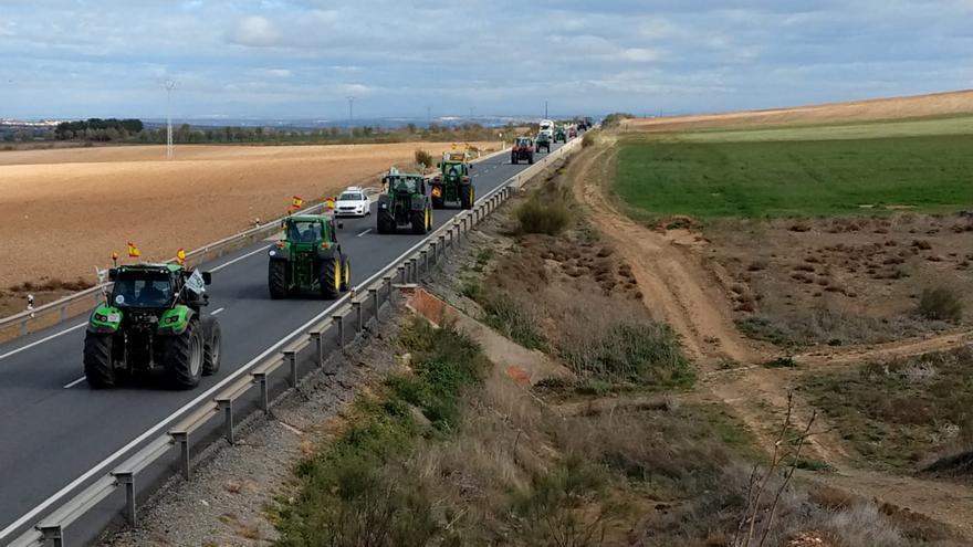Tractores hacia Toledo