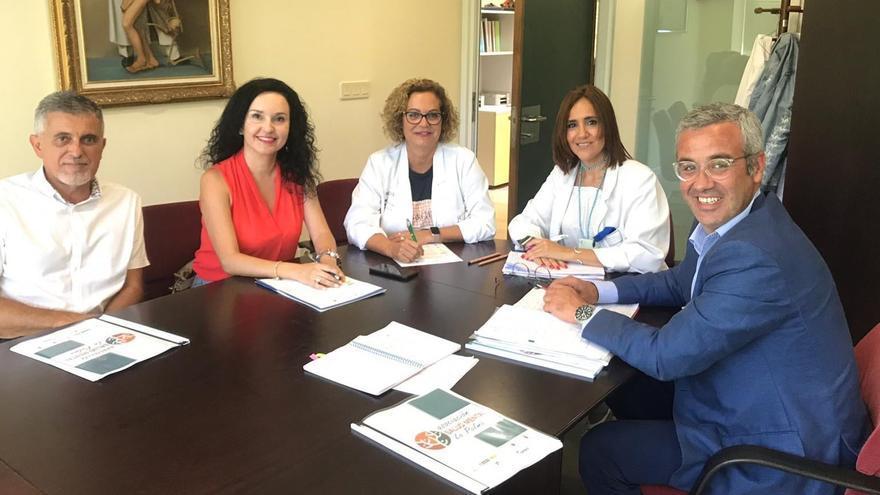 Reunión mantenida en la Gerencia del Hospital General de La Palma.
