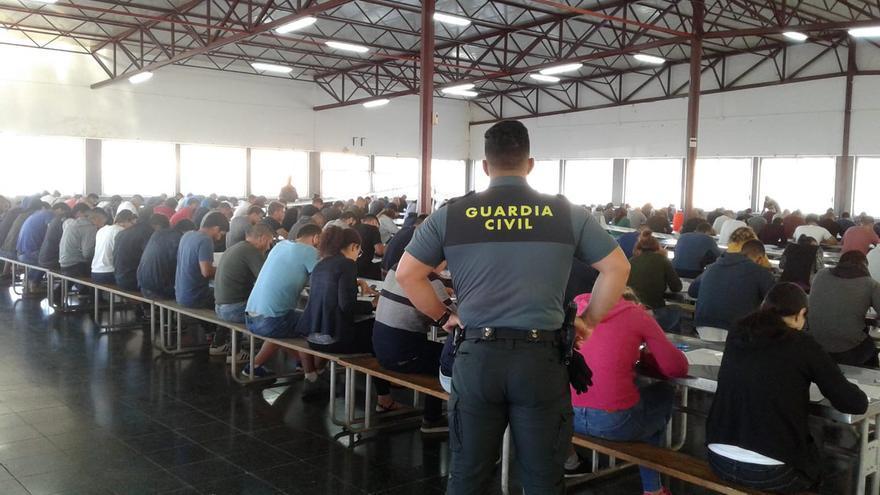Examen de acceso a la Guardia Civil en Tenerife