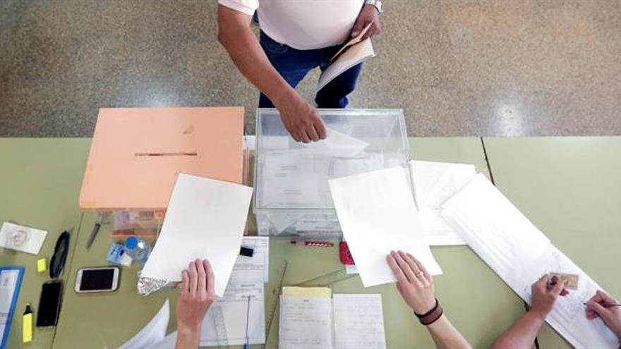 Un momento de la votación en una elección anterior
