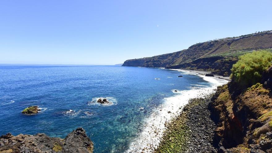 Litoral en que se halla la playa de Los Patos, en El Rincón de La Orotava