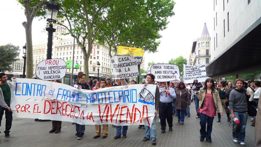 Primera manifestación de la PAH
