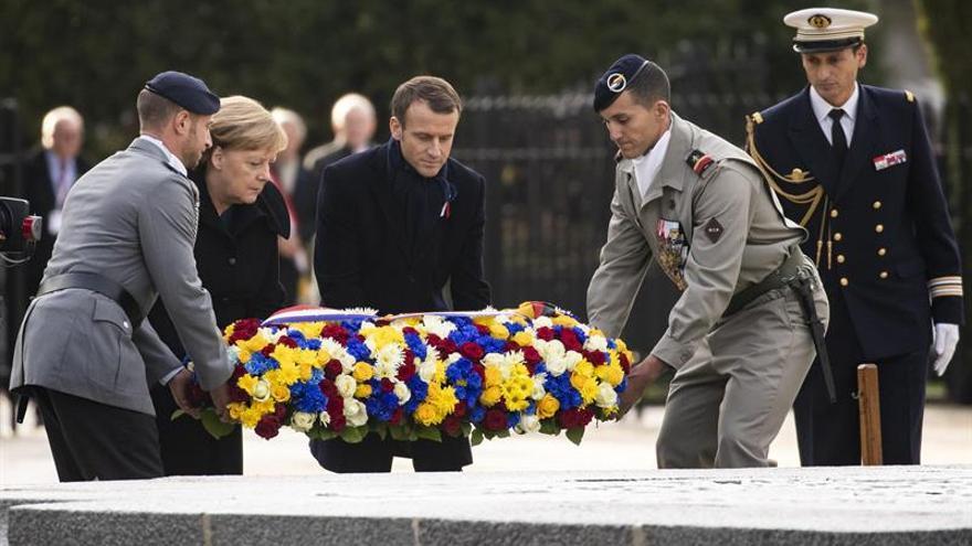 Francia y Alemania reafirman su amistad un siglo después de la Gran Guerra