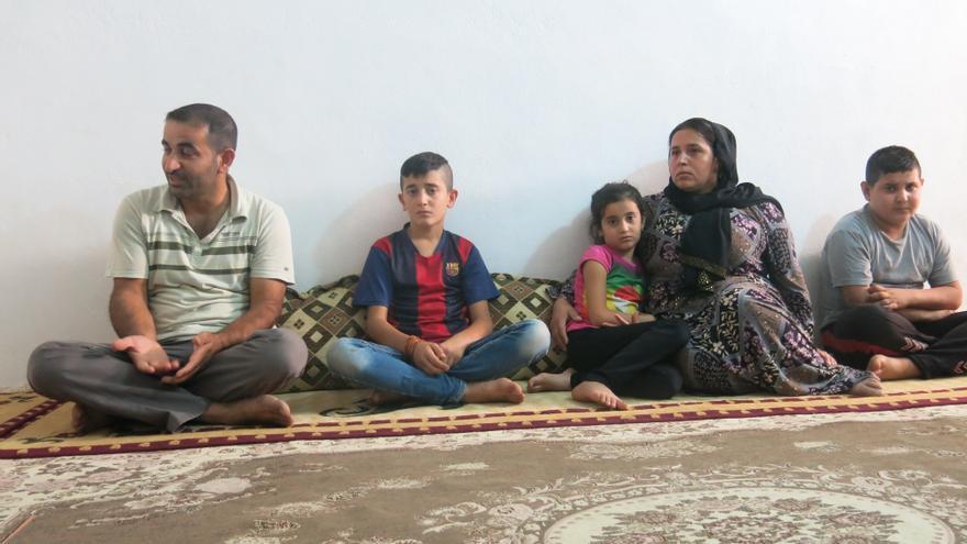 Mohammed con su familia. | Gabriella Bianchi/MSF