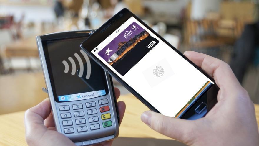 Una aplicación de pago con el móvil.