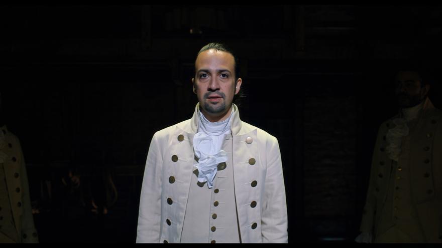 """Lin-Manuel Miranda durante la producción original de """"Hamilton""""."""