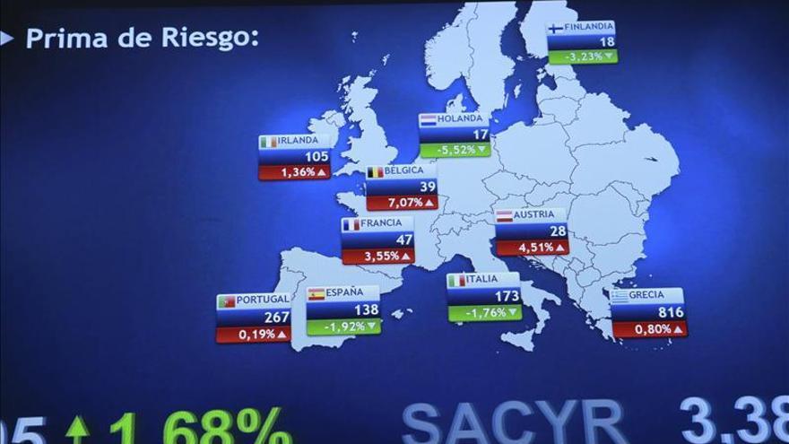 La prima de riesgo española abre sin cambios, en 124 puntos