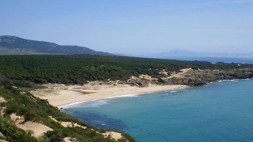 Cala del Cañuelo vista desde Punta Camarinal, en la costa de Tarifa, Cádiz.