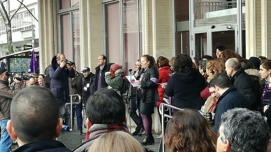 Varias periodistas han leído el manifiesto en Ciudad Real FOTO: Gema Molina Flores
