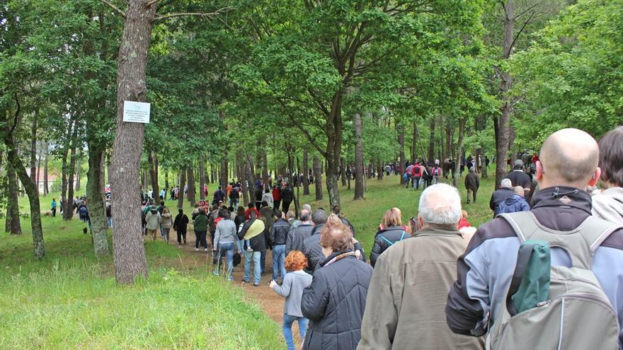 Caminata de protesta contra el proyecto de Porto Cabral