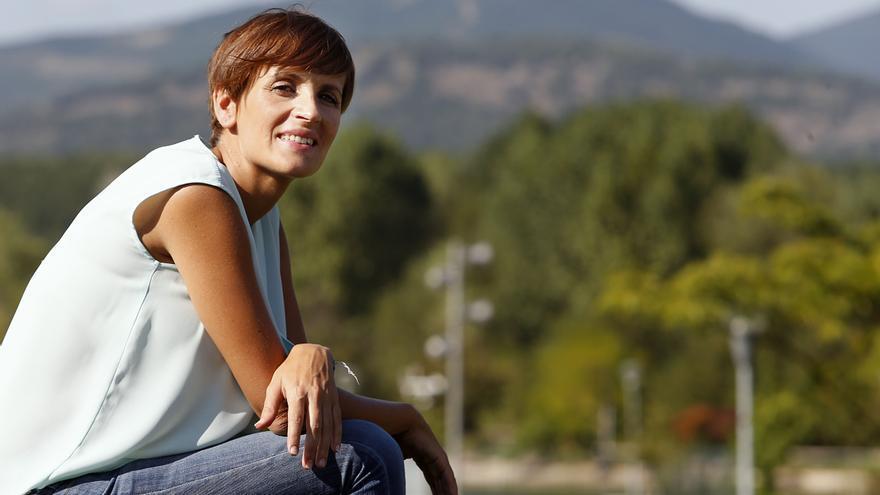 La candidata del PSN y portavoz del PSOE en el Senado, María Chivite.