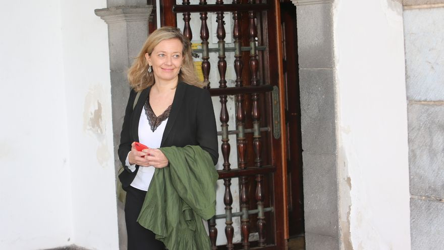 La jueza Victoria Rosell, a su salida del Palacio de Justicia. (ALEJANDRO RAMOS)