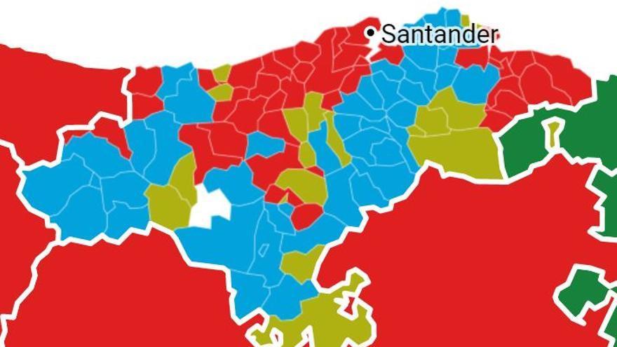 Resultado de las Elecciones Generales en Cantabria por municipios.