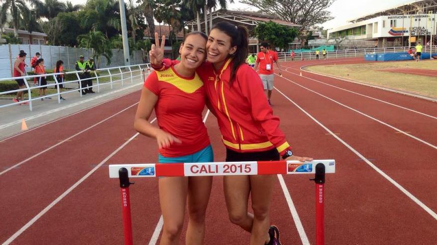 Carmen Calvo y Paola Sarabia en el mundial de Cali 2015.