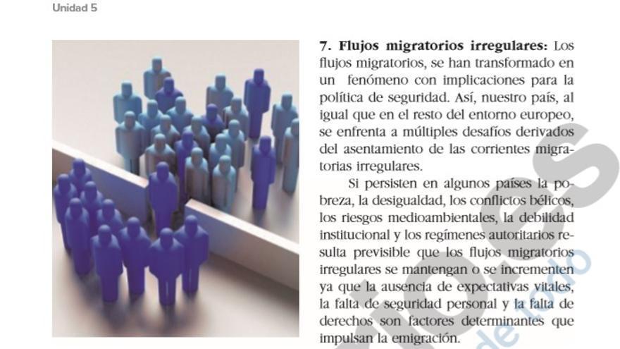 La inmigración como amenaza en el contenido sobre la defensa de España