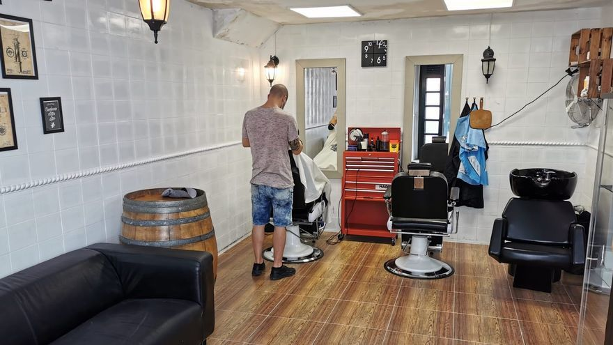Barbería 'Santa Cruz de La Palma' de la capital.