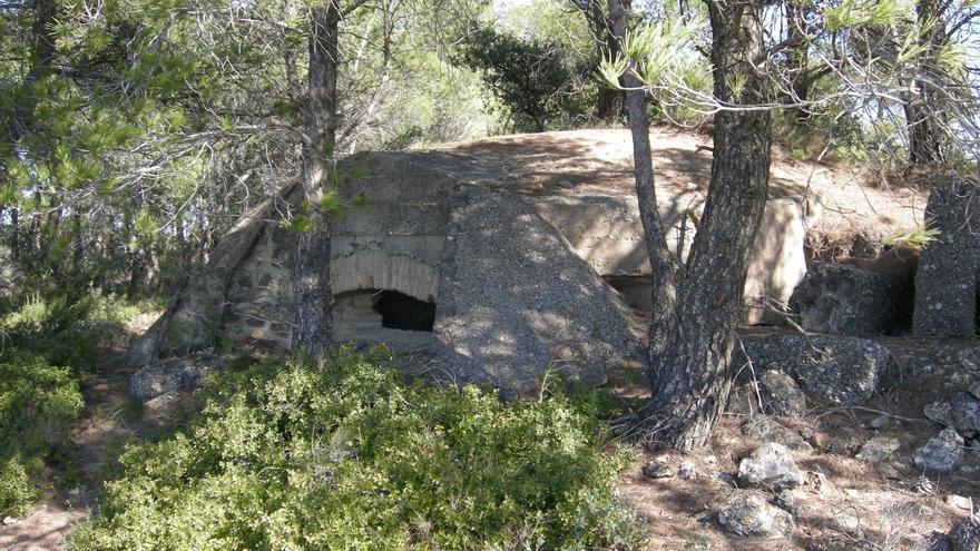 Fuerte de Milet, una de las muchas fortificaciones que se construyeron durante la Batalla del Ebro. COMEBE