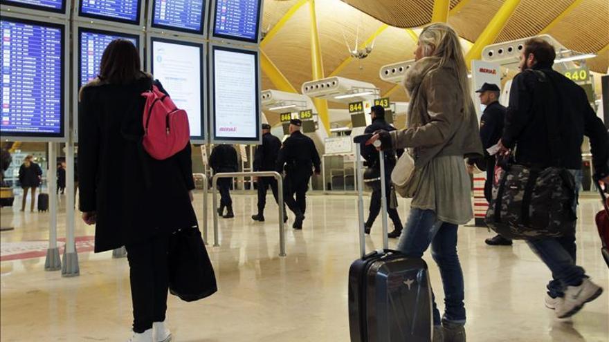 El transporte aéreo interior perdió un 16,5 % de viajeros en marzo