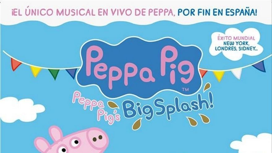 "Cartel del musical Peppa Pig ""Big Splash"""