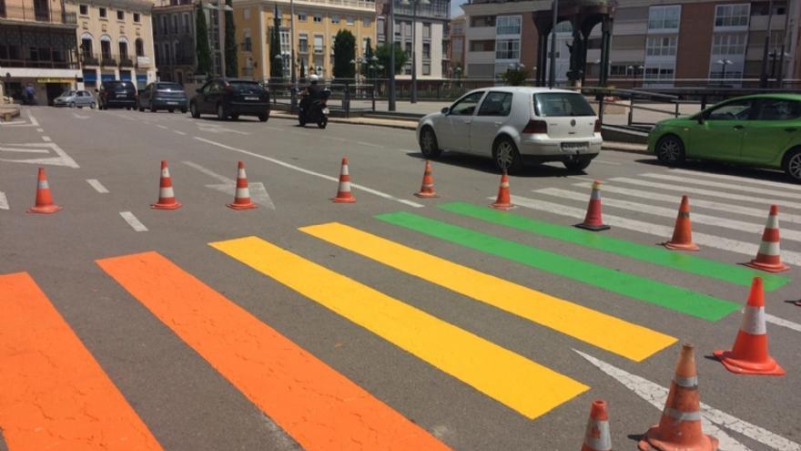 Pasos de peatones 'arcoíris' de Totana, Murcia