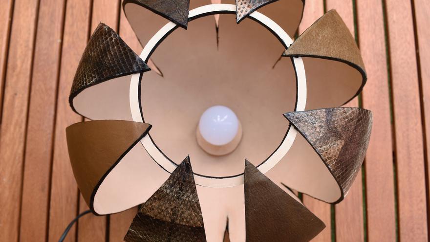 """Uno de los trabajo de Raquel Berea. Una lámpara denominada """"Lucerna"""""""