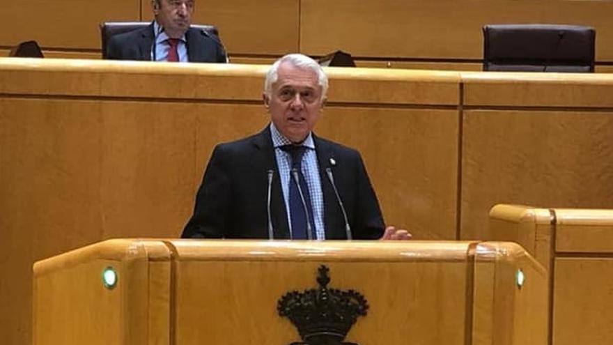 Manuel Altava, durante una intervención en el Senado