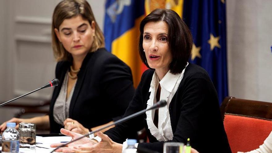 La consejera de Turismo, Cultura y Deportes del Gobierno de Canarias, María Teresa Lorenzo Rodríguez.