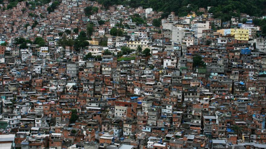 Vista de Rocinha, la favela más grande de Latinoamérica
