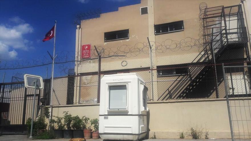 El centro de expulsión de refugiados de Isikent, a las afueras de Esmirna. Foto cedida.