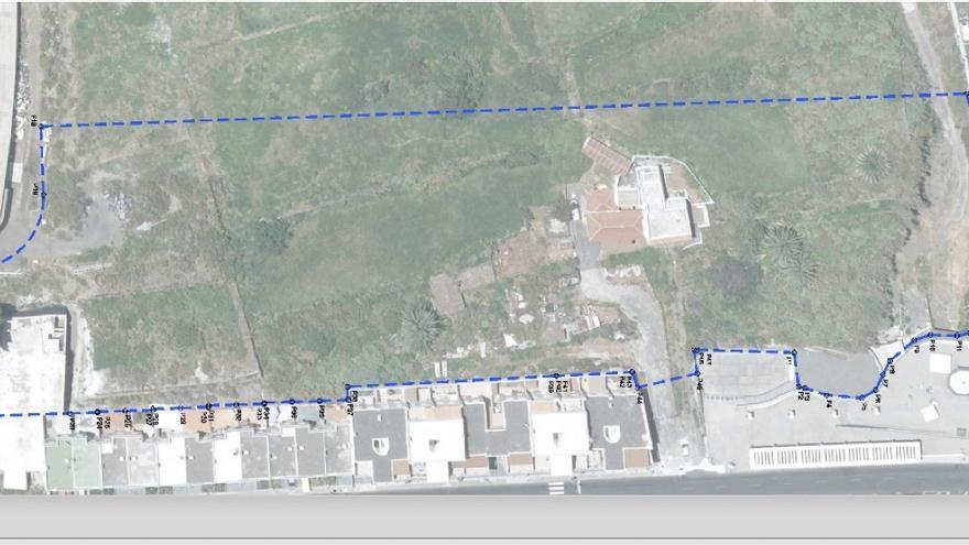 Plano de la modificación parcial del Plan General Ordenación de Breña Baja para impulsar el núcleo urbano de San José.