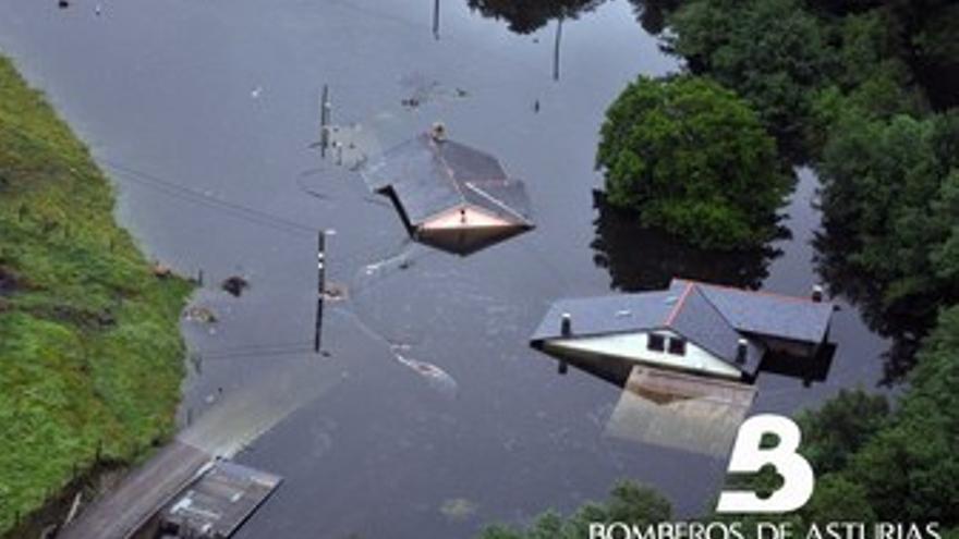 Inundaciones en el occidente asturiano.