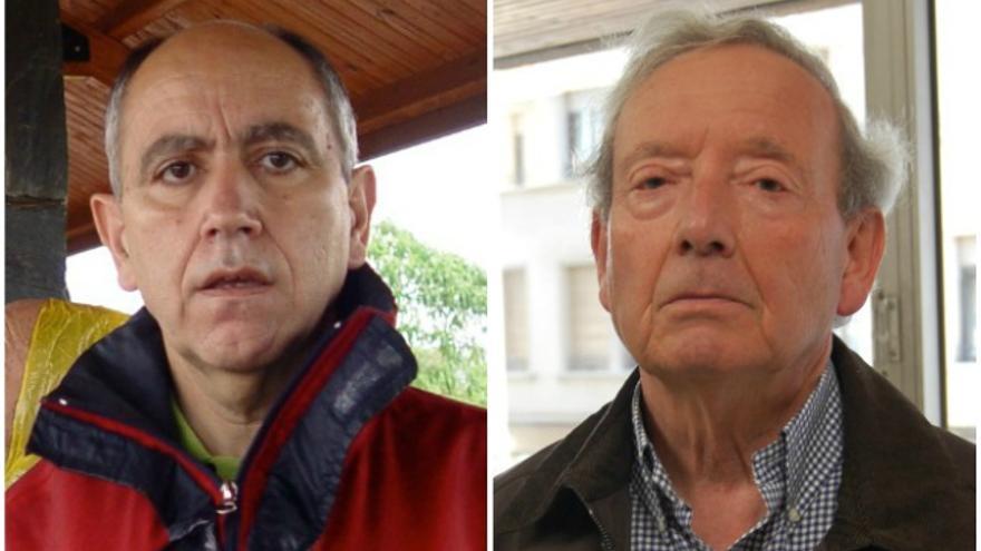 Los hacedores del acuerdo de la carretera de Ancares, Javier Palacín (izda) y Nino Fernández (dcha)