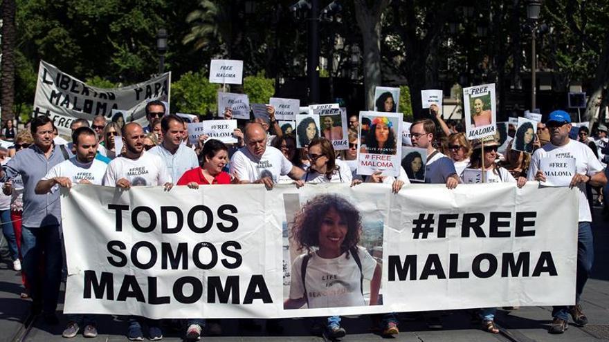 Una manifestación reclama que se libere a Maloma Morales tras 20 meses
