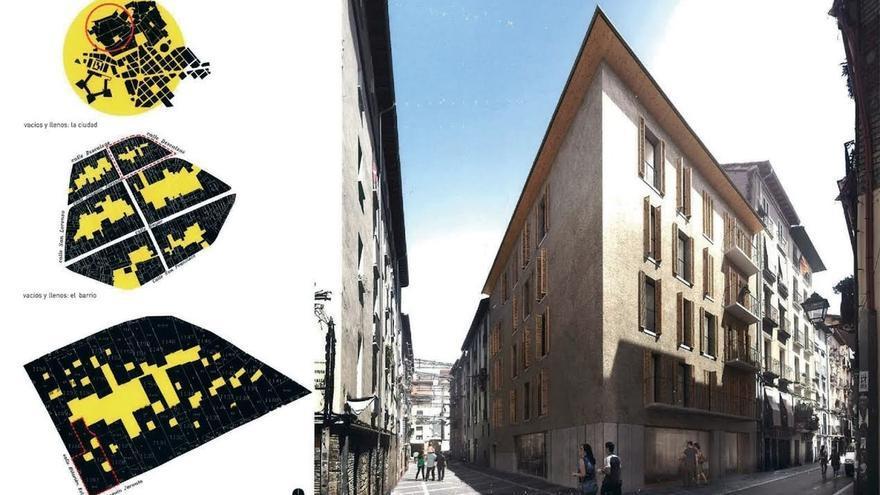 OM ARQ y Apezteguia Architects redactarán los proyectos de renovación de edificios en Descalzos y Jarauta-Eslava