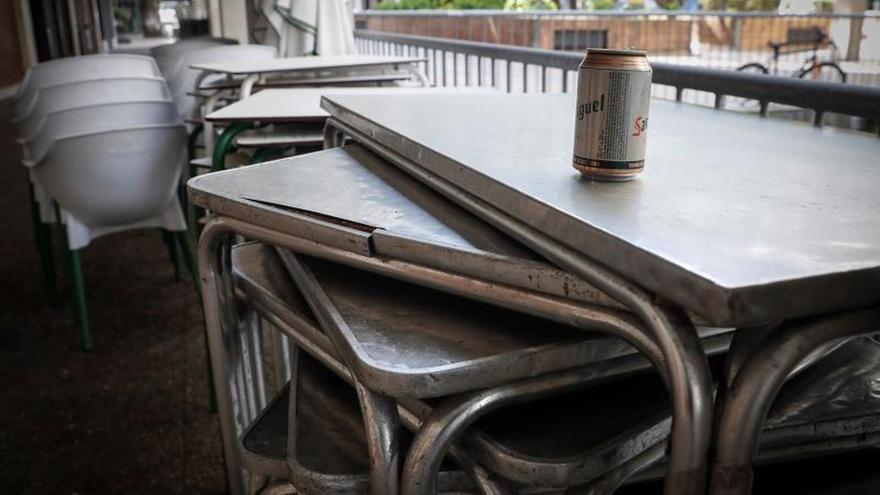 Una terraza recogida de un bar de San Sebastián.