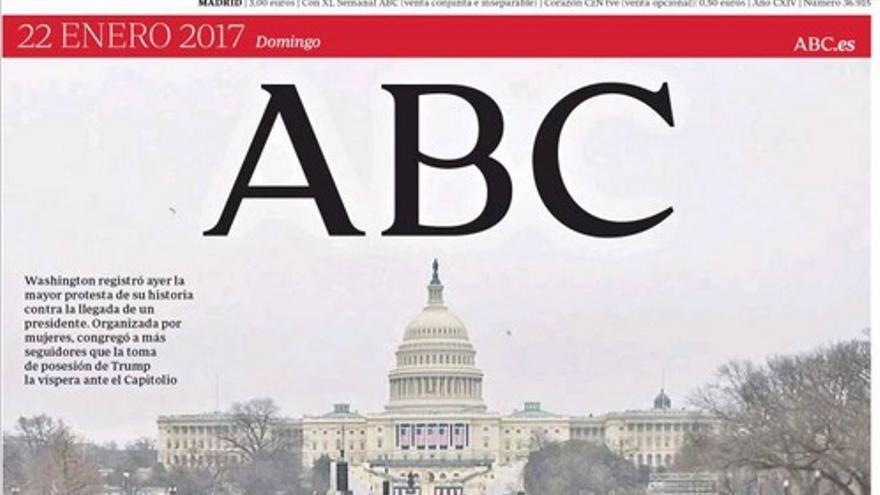 Portada de ABC de este 22 de enero de 2017.