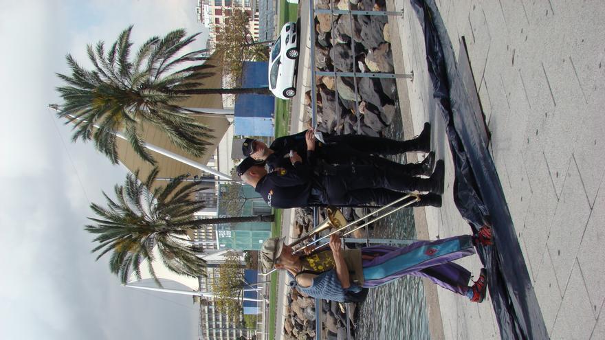 Acción antimilitarista en la Base Naval de Las Palmas de Gran Canaria 7 (Thalía Rodríguez).
