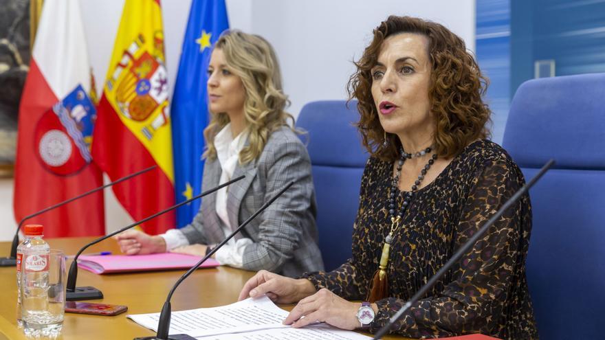 La consejera de Empleo y Políticas Sociales, Ana Belén Álvarez, informa, en rueda de prensa, de los presupuestos de la Consejería para 2020.