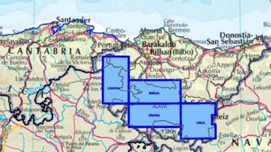 Mapa de permisos de extracción de hidrocarburos de Shesa