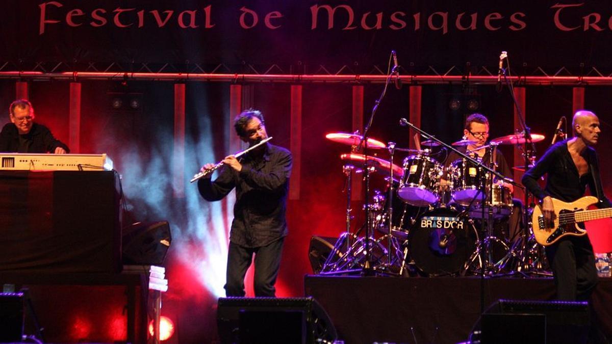El grupo Gwendal durante una actuación.
