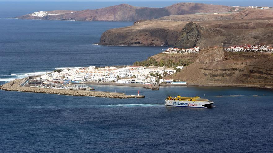 Vista del Puerto de Las Nieves, en Agaete.