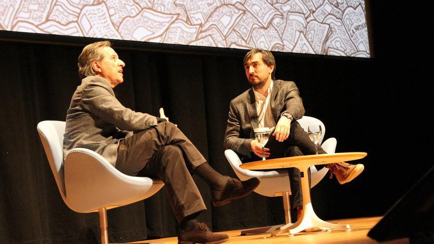 Conversación entre Ignacio Escolar e Iñaki Gabilondo en el XIV Congreso de Periodismo Digital de Huesca, en marzo de 2013. / flickr del Congreso de Periodismo Digital