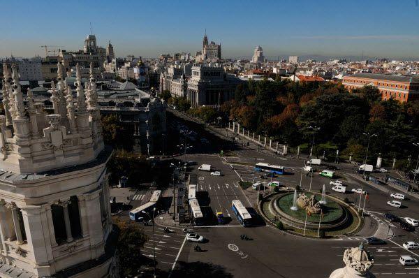 Vista de la boina de polución desde Cibeles | Fotografía: Ayuntamiento de Madrid