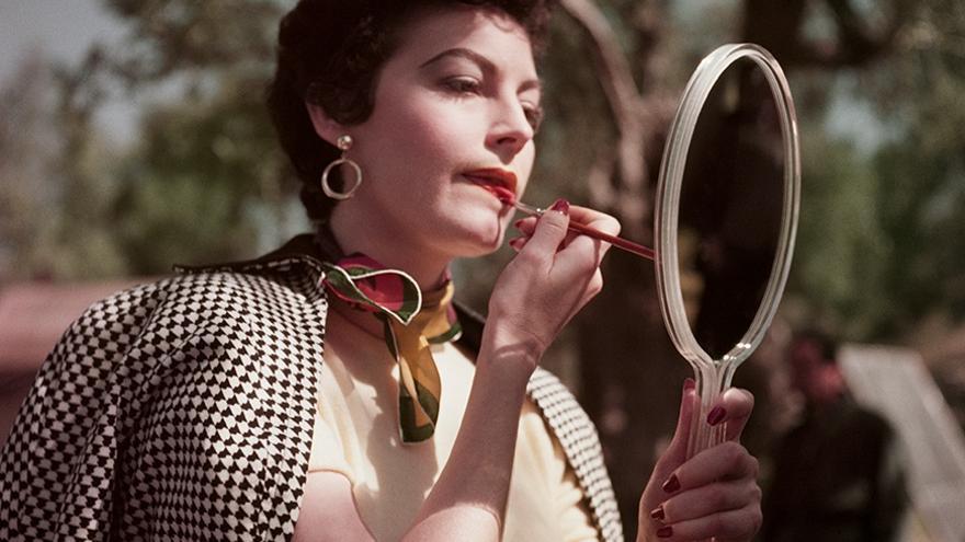 Ava Gardner en el rodaje de 'La condesa descalza', Tívoli, Italia. 1954