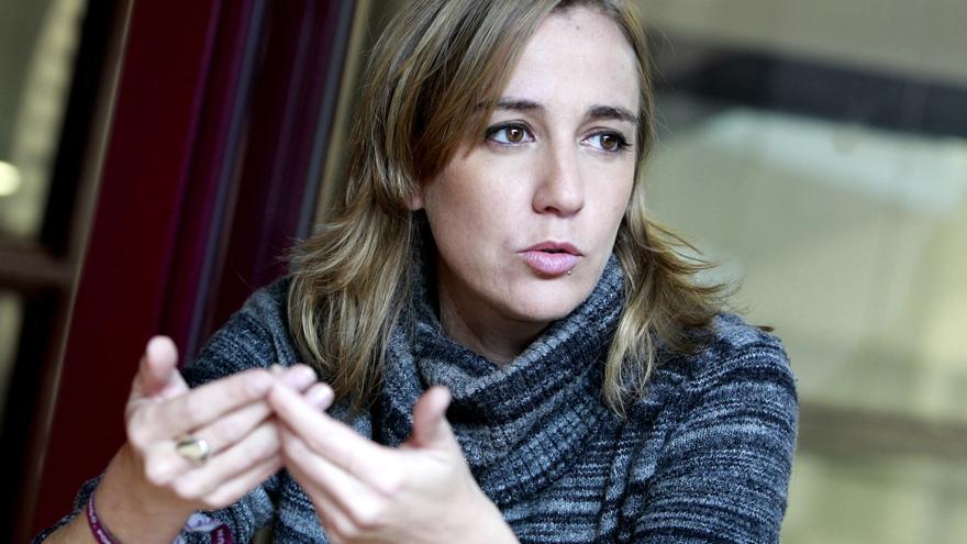 Tania Sánchez, durante la entrevista / Marta Jara
